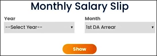 Salary Slip Download on Intra Portal