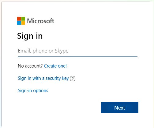 Sign in on Microsoft